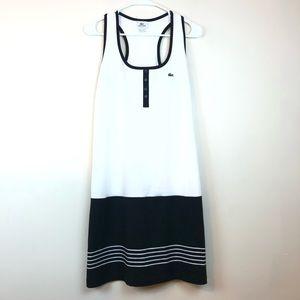 Lacoste Sport Striped Tank Dress Black White 42